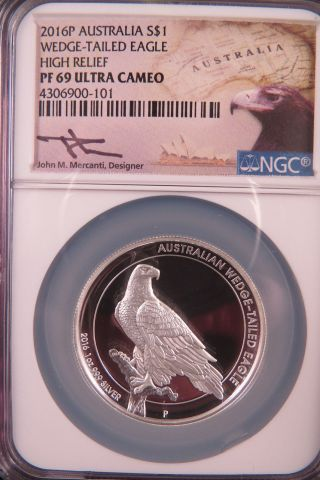 2016 Wedge Tailed Eagle Ngc Pf 69 Ultra Camio Silver photo