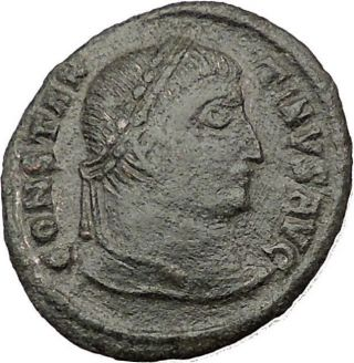 Constantine I The Great 324ad Authentic Ancient Roman Coin Wreath I32286 photo