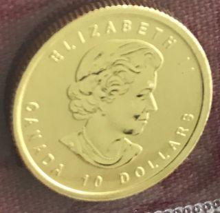 1812 - 2012 Canadian $10 Gold Maple Leaf War Of 1812,  9999 1/4 Oz photo
