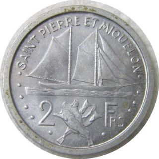 Elf French Saint Pierre & Miquelon 2 Francs 1948 Ship photo
