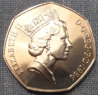 Great Britain 1986 50 Pence Uk photo