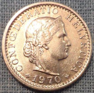 Switzerland 1970 20 Rappen Coin Km 29a photo