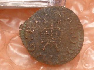 1625 - 1649 Charles I Hammered Richmond Farthing C photo