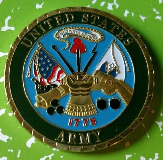 United States Army 1775 Challenge 67 Colorized Art Round photo