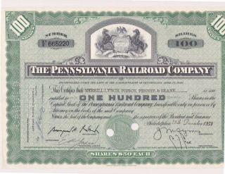 Pennsylvania Railroad Stock Certificate (ic) photo