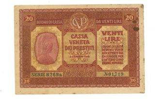 Italy 20 Lire - 1918 photo