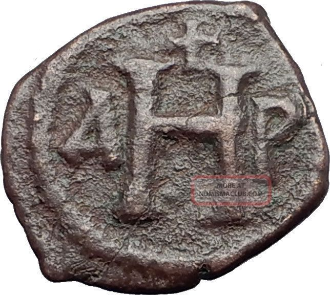 Justinian I The Great 527ad 8 Nummi Authentic Ancient Byzantine Coin I59625 Coins: Ancient photo