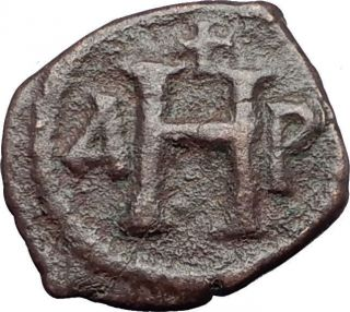 Justinian I The Great 527ad 8 Nummi Authentic Ancient Byzantine Coin I59625 photo