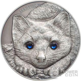 Sable Wildlife Protection 1 Oz Silver Coin 500 Togrog Mongolia 2017 photo