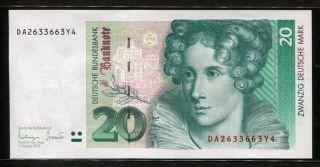Germany - Federal Republic 1993,  20 Deutsche Mark,  P39b,  Unc photo