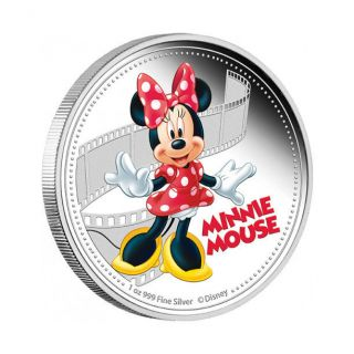 Niue 2014 2$ Disney Mickey & Friends 2014 - Minnie Mouse 1 Oz Proof Silver Coin photo