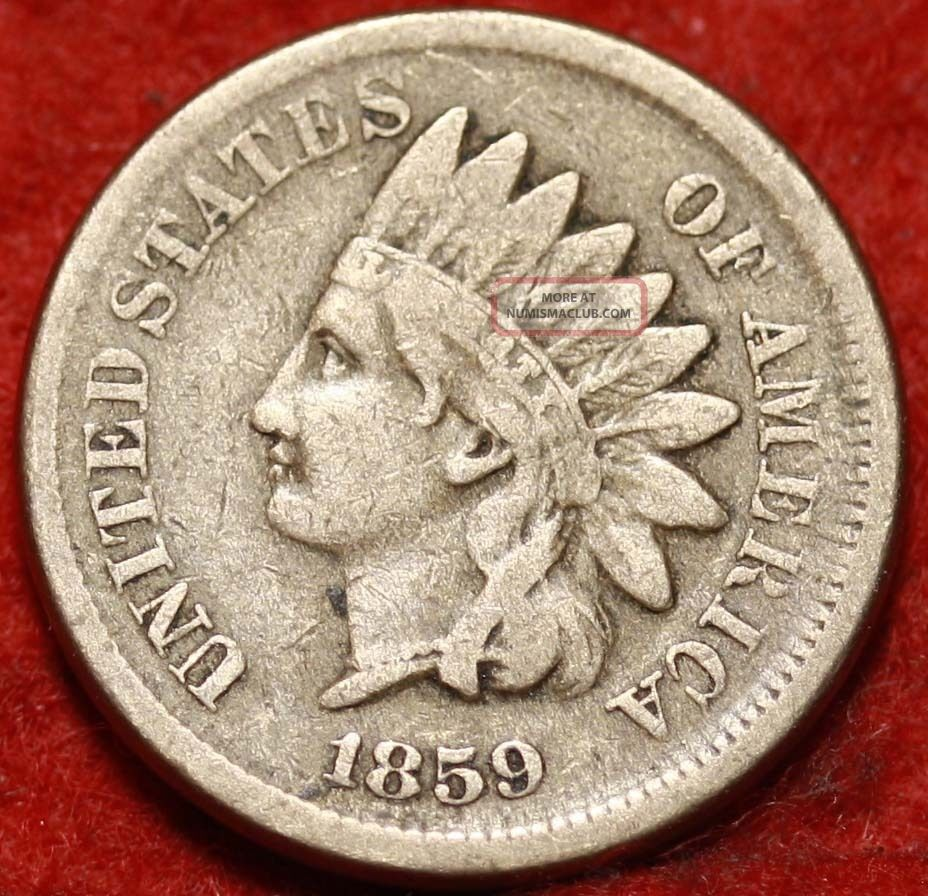 1859 Philadelphia Copper - Nickel Indian Head Cent Small Cents photo