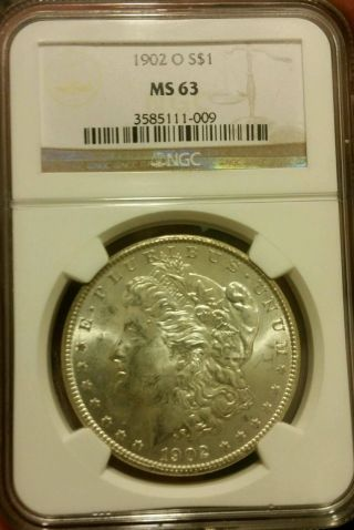 1902 - O $1 Ms63 Ngc - Morgan Silver Dollar photo