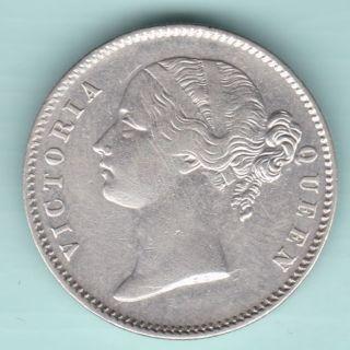British India - 1840 - Victoria Queen - Divided Legend - One Rupee - Rarest Coin photo