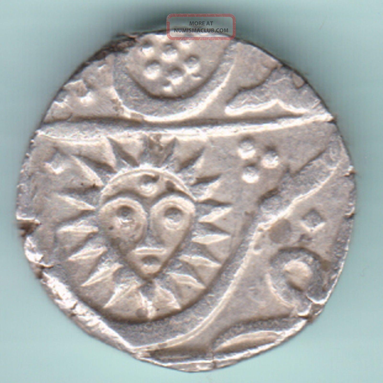 Indore State - Shahalam Ii - Shivaji Holkar - One Rupee - Rarest Silver Coin India photo