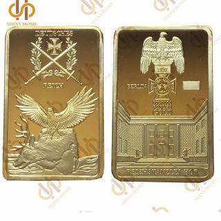 German Berlin 999/1000 Gold Reichskanzlei Hof Deutsche Reich Eagle Cross Bar photo