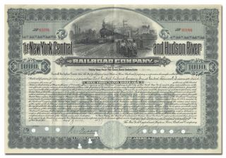 York Central & Hudson River Railroad Company Bond Certificate photo