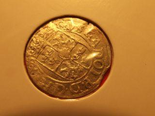 Sweden 1/24 Thaler Dreipolcher 1623 Gustav Ii Adolf Medieval Silver Coin photo
