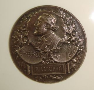 1891 France P.  Altairac - Gambetta 51 Mm Medal Ngc Au50 photo
