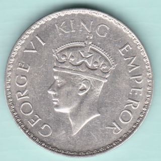 British India - 1941 - King George Vi Emperor - One Rupee - Rarest Silver Coin photo