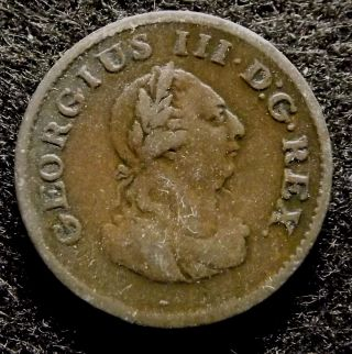 1806 Ireland Hibernia Farthing - Extra Fine Georgius Iii Coin,  Km 146.  1 (774) photo
