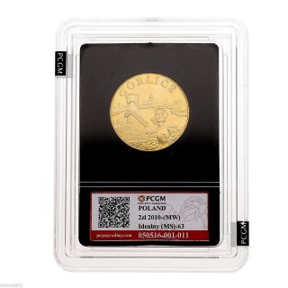 Scarce Poland,  Polish 2010 Nordic Gold 2 Zloty Coin,  Gorlice,  Pcgm photo