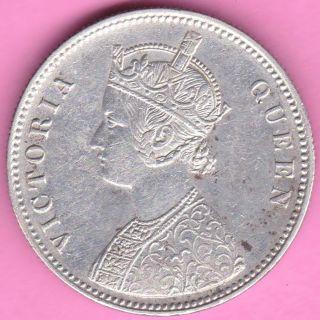 British India - 1874 - Victoria Queen - One Rupee - Rarest Silver Coin - 19 photo