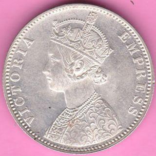 British India - 1901 - Victoria Queen - One Rupee - Rarest Silver Coin - 17 photo