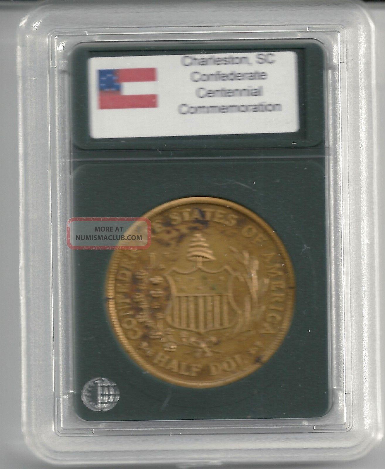 Confederate States Csa Half Dollar Dol Civil War Centennial Coin Good For Token Exonumia photo