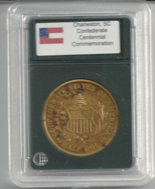 Confederate States Csa Half Dollar Dol Civil War Centennial Coin Good For Token photo