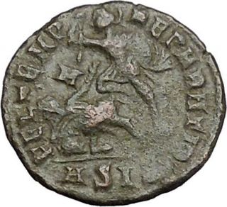 Constantius Ii Constantine The Great Son Ancient Roman Coin Battle Horse I50759 photo