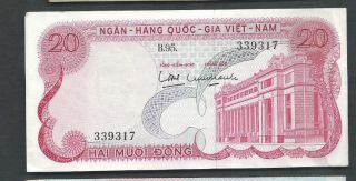 Viet Nam (south) 1969 20 Dong P 24 Circulated photo