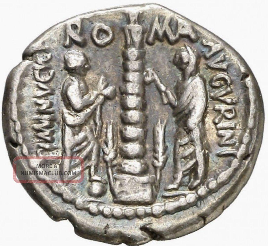 Rome Ti.  Minucius C.  Augurinus 134 Bc Ar Denarius Rare Coins: Ancient photo