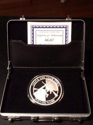 Sbss (1) Ag47 One Oz.  Silver & (1) Freedom Girl Copper Medallion photo
