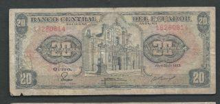 Ecuador 1983 20 Sucres P 115b Circulated photo