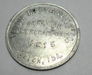 Teton Mercantile Co,  1915 Gf.  50¢ Idaho Trade Token photo