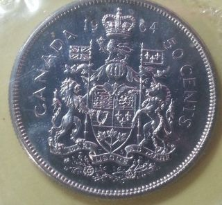 Canada 1964 Proof 50 C 0.  8000 Silver Ruler: Elizabeth Ii photo