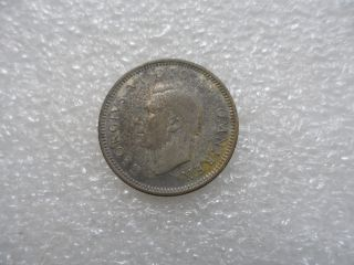 1939 Great Britain 6 Pence Coin (xf) On Silver  Valuable Brithish One photo