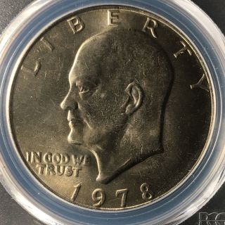 1978 $1 Eisenhower Dollar Pcgs Ms66,  83454052 photo
