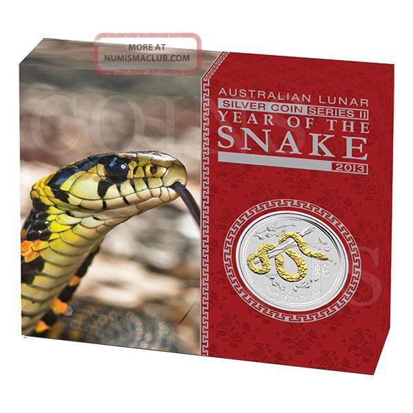 Australia 2013 1 Lunar Year Of The Snake Bullion 1oz