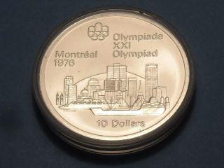 1973 Montreal Olympics Silver Coin Canada $10 1.  44 Oz Silver