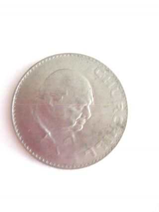1965 Elizabeth Ii Dei Gratia Regina F.  D.  Coin - Churchill photo