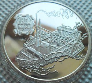 Hungary 500 Forint,  Otszaz,  1994,  Carolina,  Old Danube Ships Silver Proof photo