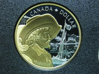 2008 400th Anniversary Of Quebec City Canadian Gold Plated Silver Coin photo