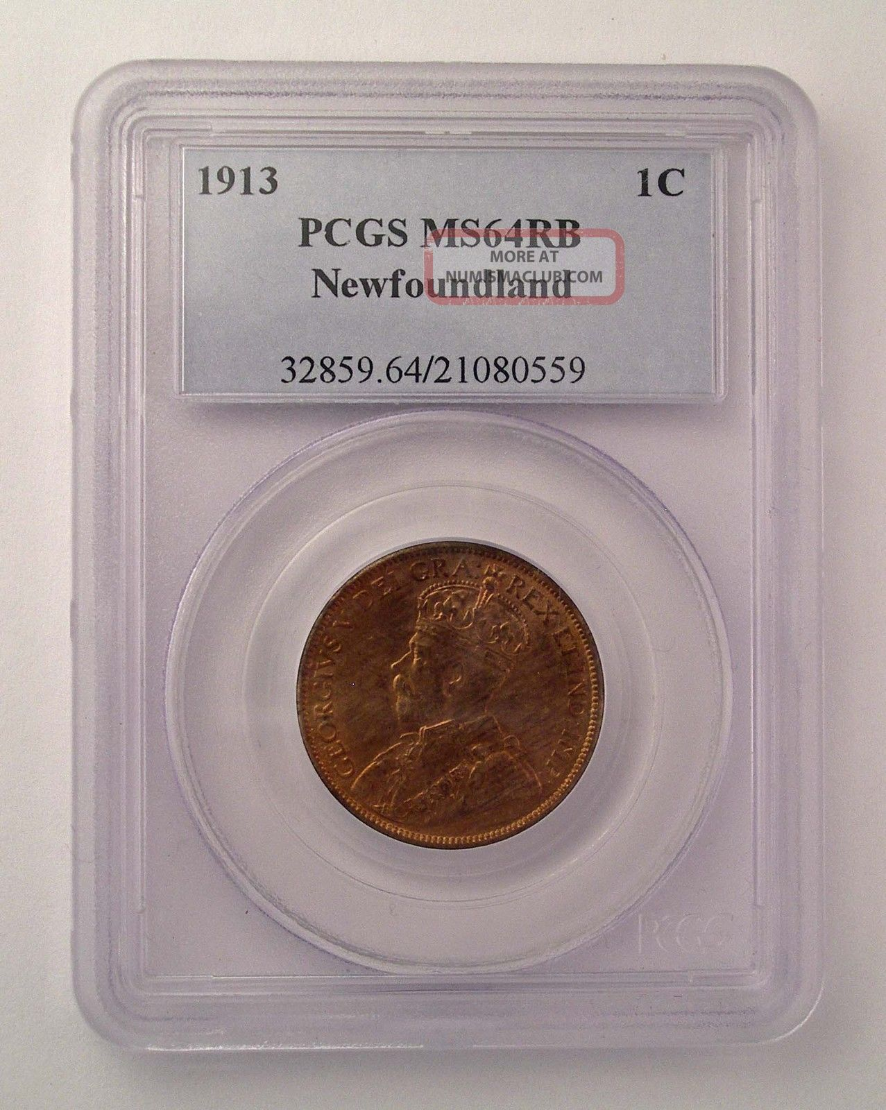 1813 Newfoundland Canada 1 Cent Pcgs Ms 64 Rb Red Km - 16 Coin Coins: Canada photo