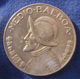 Panama 1933 Half (1/2) Balboa Circulated photo