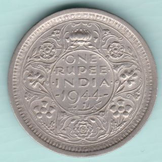 British India - 1944 - King George Vi Emperor - One Rupee - Lahore - Rare photo