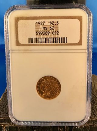 1927 $2.  50 Gold Indian Head photo