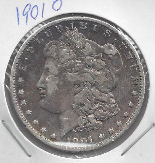 1901 - O Morgan Silver Dollar,  90 Silver Us Coin photo
