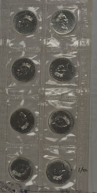 1997 Canada Silver Maple Leaf.  9999 In Packaging - Strip Of 4 photo